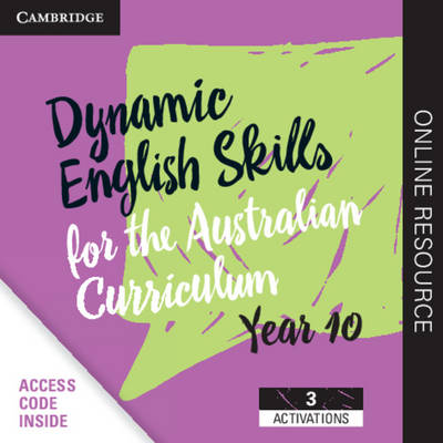 Dynamic English Skills for the Australian Curriculum Year 10 3 Year Subscription: A multi-level approach book