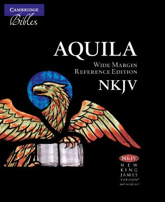 NKJV Wide Margin Reference Bible, Black Edge-Lined Goatskin Leather, Red Letter Text NK746:XRME by