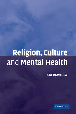 Religion, Culture and Mental Health book