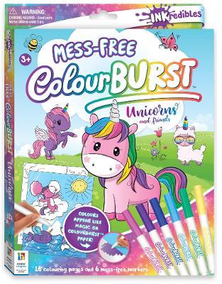 Inkredibles Colour Burst Colouring: Unicorns and Friends by Hinkler Books Hinkler Books