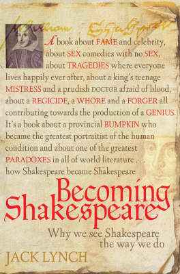 Becoming Shakespeare by Jack Lynch
