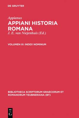 Historia Romana, Vol. III Pb by Appian