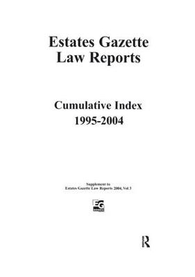 EGLR 2004 Cumulative Index book