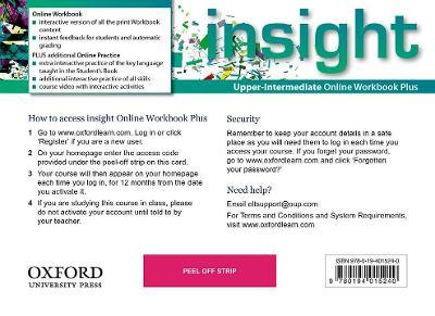 insight: Upper-Intermediate: Online Workbook Plus - Access Code by