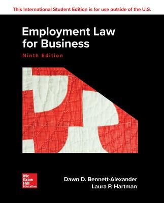 ISE Employment Law for Business by Dawn Bennett-Alexander
