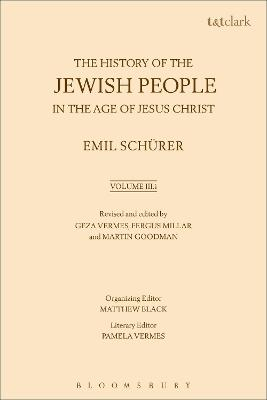 The History of the Jewish People in the Age of Jesus Christ: Volume 3.i by Emil Schurer