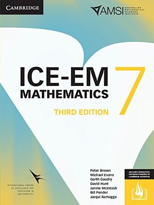 ICE-EM Mathematics 3ed Year 7 Print Bundle (Textbook and Interactive Textbook) by Peter Brown
