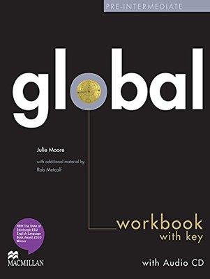 Global Pre-Intermediate Workbook & CD with key Pack by Julie Moore