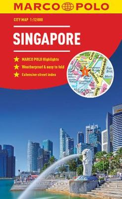 Singapore Marco Polo City Map 2018 - pocket size, easy fold, Singapore street map by Marco Polo