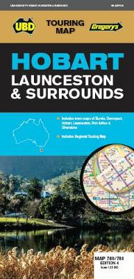 Hobart Launceston & Surrounds Map 780/781 4th ed by UBD Gregory's