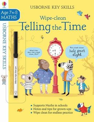 Wipe-clean Telling the Time 7-8 book