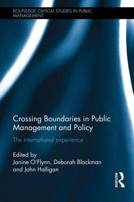 Crossing Boundaries in Public Management and Policy book