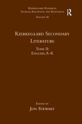 Kierkegaard Secondary Literature book