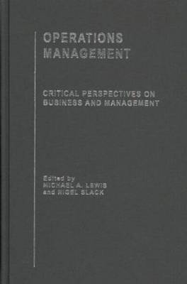 Operations Management by Michael A. Lewis