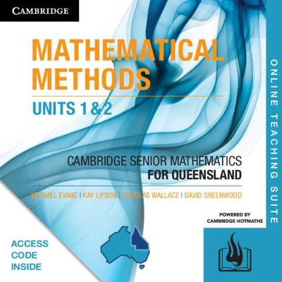 CSM QLD Mathematical Methods Units 1 and 2 Online Teaching Suite (Card) by Michael Evans