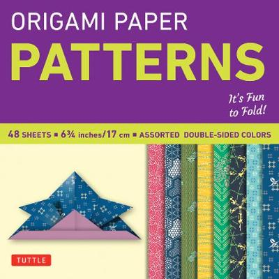 """Origami Paper - Patterns - Small 6 3/4"""" - 49 Sheets: Tuttle Origami Paper: High-Quality Origami Sheets Printed with 8 Different Designs: Instructions for 6 Projects Included by Anonymous"""