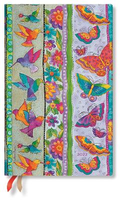 2022 Hummingbirds & Flutterbyes, Maxi (Wk at a Time) Diary: Hardcover, Horizontal Layout, 100 gsm, elastic closure book