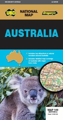 Australia Map 149 6th ed by UBD Gregory's