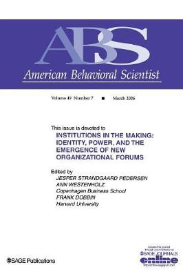 Institutions in the Making by Ann Westenholz