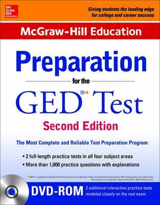 McGraw-Hill Education Preparation for the GED Test with DVD-ROM book