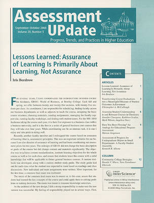 Assessment Update Volume 20, Number 5, September-october 2008 book