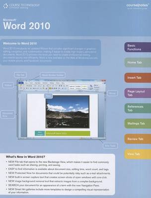 Microsoft Word 2010 Coursenotes by Course Technology