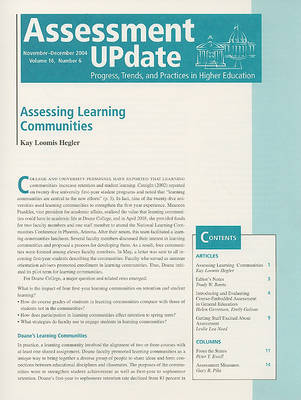 Assessment Update Volume 16, Number 2 2004 by Trudy W. Banta