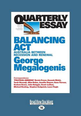 Quarterly Essay 61: Balancing Act by George Megalogenis