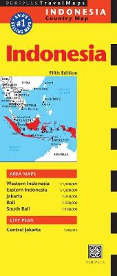 Indonesia Travel Map by Periplus Editions