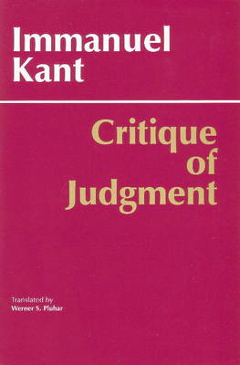 Critique of Judgment by Immanuel Kant