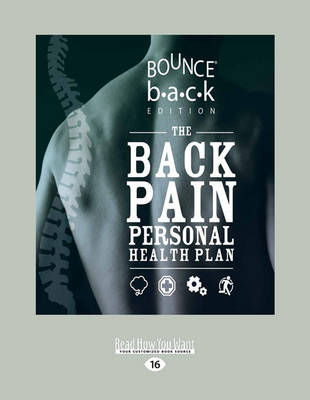 The Back Pain Personal Health Plan by Trish Wisbey-Roth