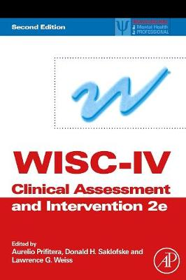 WISC-IV Clinical Assessment and Intervention book