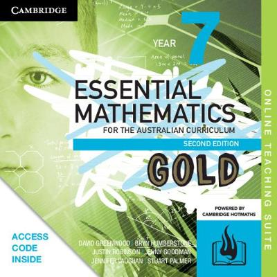 Essential Mathematics Gold for the Australian Curriculum Year 7 Online Teaching Suite (Card) by David Greenwood