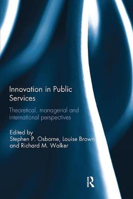 Innovation in Public Services by Stephen P. Osborne