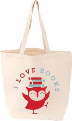I Love Books LITTLE TOTE FIRM SALE by Gibbs Smith Publisher