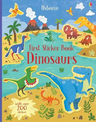 First Sticker Book Dinosaurs book