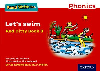 Read Write Inc. Phonics: Red Ditty Book 8 Let's Swim book