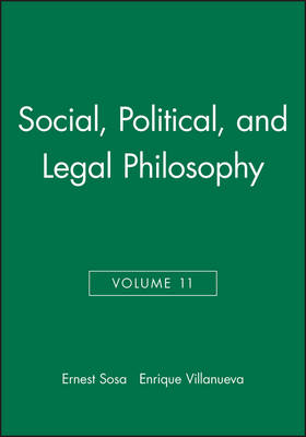 Philosophy of Law and Social Philosophy by Ernest Sosa