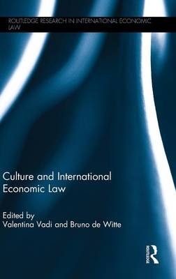 Culture and International Economic Law book