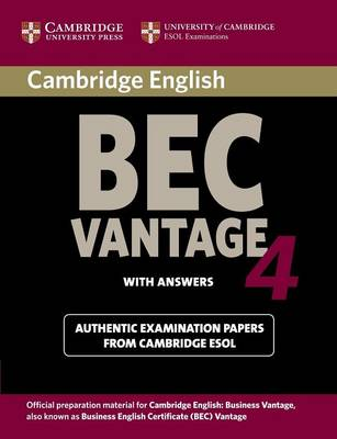 Cambridge BEC 4 Vantage Student's Book with answers by Cambridge ESOL