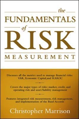 Fundamentals of Risk Measurement book