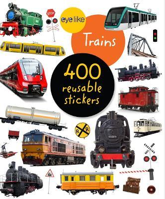 Eyelike Stickers: Trains book