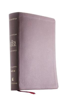 The NIV, Open Bible, Leathersoft, Brown, Red Letter, Comfort Print: Complete Reference System by Thomas Nelson