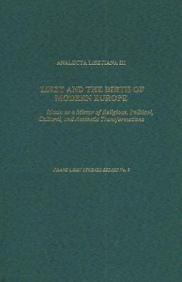 Analecta Lisztiana III book
