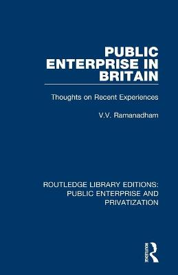 Public Enterprise in Britain: Thoughts on Recent Experiences book