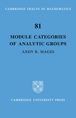 Module Categories of Analytic Groups book