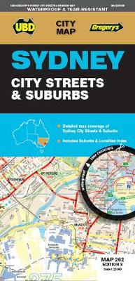 Sydney City Streets & Suburbs Map 262 8th ed waterproof by UBD Gregory's