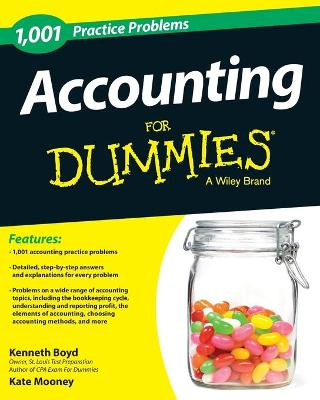 1,001 Accounting Practice Problems for Dummies by Kenneth W. Boyd