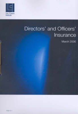 Directors' and Officers' Insurance by John Tesarsch