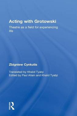 Acting with Grotowski book
